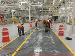 Limpieza de pisos de granito